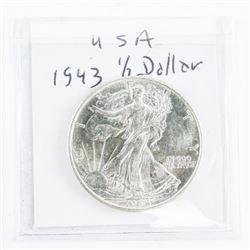 1943 USA Half Dollar MS63