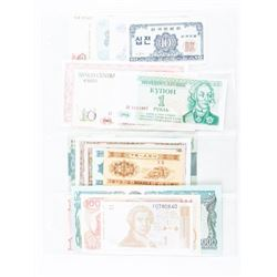 Group of (20) World Notes UNC - 20 Countries