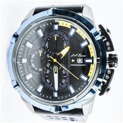 L.A. BANUS Designer Chrono Watch/Leather