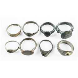 Group of (8) Scarce - Rings As Found in Europe by
