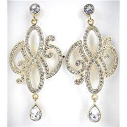 MM Crystal - Designer Custom 3 Tier Earrings Bead