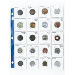 Estate Group of (20) World Coins/Tokens