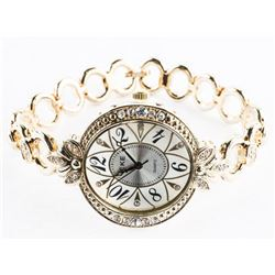 Ladies Quartz Watch Open Bracelet Link with Swarov