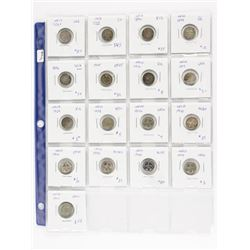 Estate Lot - 17 Coins NFLD Silver 5 Cents (OAI)