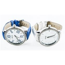 Pair Ladies Quartz Watches with Swarovski Elements
