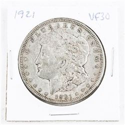 1921 USA Silver Morgan Dollar VF30