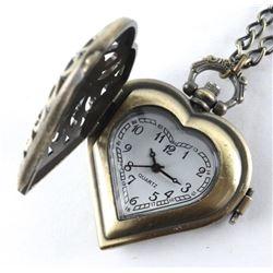 Antique Style - Heart Pendant Watch