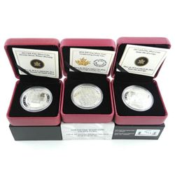 Grouping of (3) .9999 Fine Silver $20.00 Coins, Gr