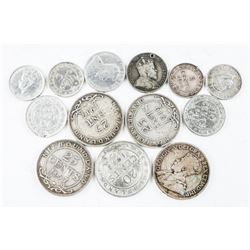 Group of (13) NFLD 925 Silver Coins Mixed