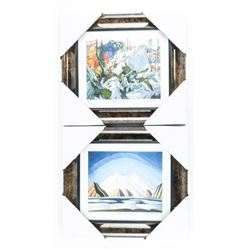 Pair of Gallery Framed Iconic Canadian Artists - F