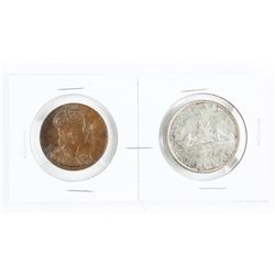 1953 Coronation Pair Silver Dollar and Medal