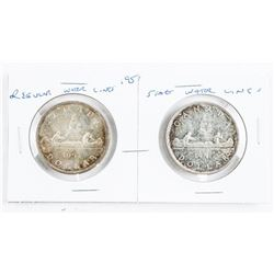 Pair of 1951 Canada Silver Dollars, RWL and SWL