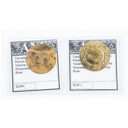 Lot (2) Canada, Pre Confederation Period, Brass Ha