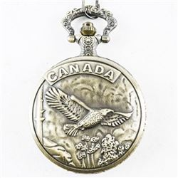 Pocket Watch with Fob CANADA Goose