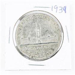 1939 CAD Silver Dollar (EF40)