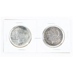 Lot (2) USA Silver Dollars: 1921 and 1922