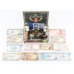 Estate - DOM Tomas Cigar Box - Full - Coins Notes,