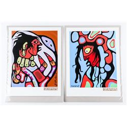 Pair Norval Morrisseau (1931-2007) Serigraphics -