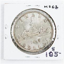 1937 Canada Silver Dollar MS63. (SME) (13)