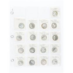 Group (17) Early 1900s Silver Proof Car Coins