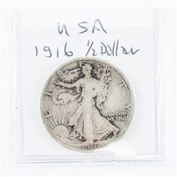 1916 USA Half Dollar VG8 Scarce date