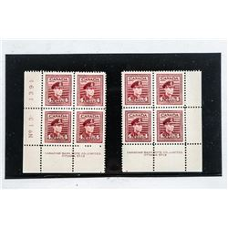 Group of (2) blocks x (4) Canada 4 Cents - Stamps