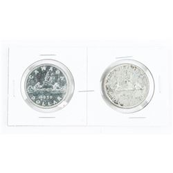 Pair Canada 1950 Silver Dollars: RWL and SWL