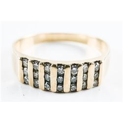 Estate 14kt Gold Diamond Band Ring, .32ct Diamonds