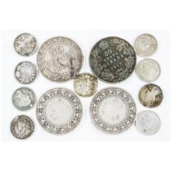 Estate Lot - Mixed Early Canada Silver Coins Mostl