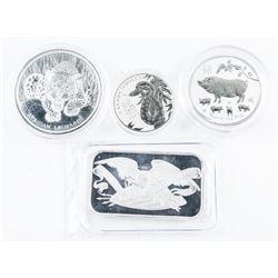 Lot - Collector Bullion 3 Coins, Plus Silver Bar