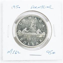 1950 Canada Silver Dollars Arnprior MS62