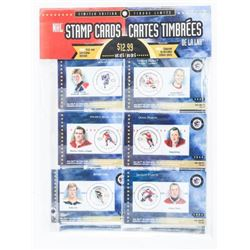 NHL Stamp Cards LE Set of (6) with Gretzky and How