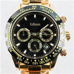 Gents 'EDISON' Designer Watch (GT) Second sweep Au