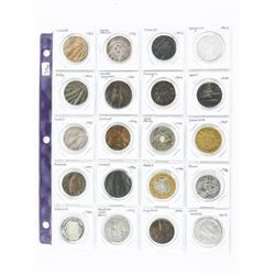 Group of (20) World Coins Late 1800s-1900s South A
