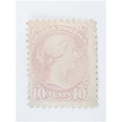 Estate Canada Post 10 cent Small Queen Pale Milky