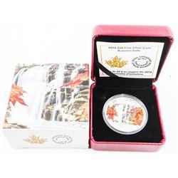 2014 .9999 Fine Silver $20.00 Coin 'Autumn Falls'