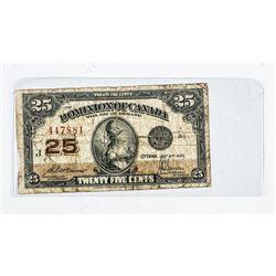 Dominion of Canada 1923 25 Cent 'Boville'