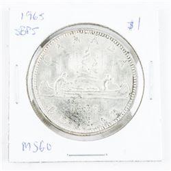 1965 Canada Silver Dollar MS60 SB/P5