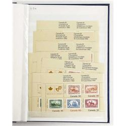 Estate Canada Mint Stamp Collection Blue Book Appr