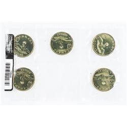 RCM 5 Pack Lucky Loonie Dollar Coins