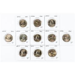 Lot (11) USA One Dollar Coins (SAC)