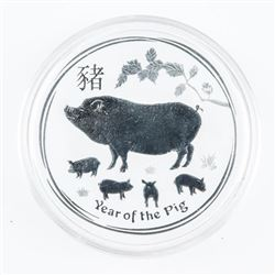 .9999 Fine Silver $2.00 Coin 2019 Year of the Pig
