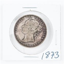 1873 NFLD 925 Silver Victoria 50 Cent