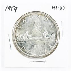 1959 CAD Silver Dollar MS-60