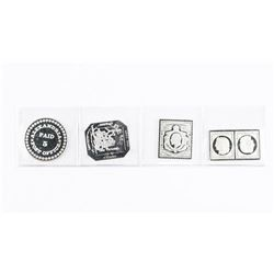 Group (4) 925 Sterling Silver World Stamps