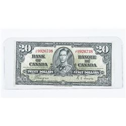 Bank of Canada 1937 20.00 C/T