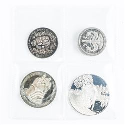 Group of (4) Silver Coins and Medals (estate)