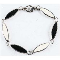 Estate Silver Bracelet with Enamel.