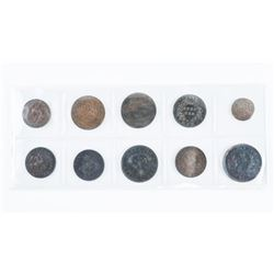 Group of (10) Colonial Tokens Early Canada