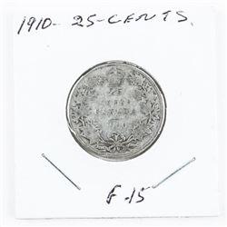 1910 Edward Canada Silver 25 Cents